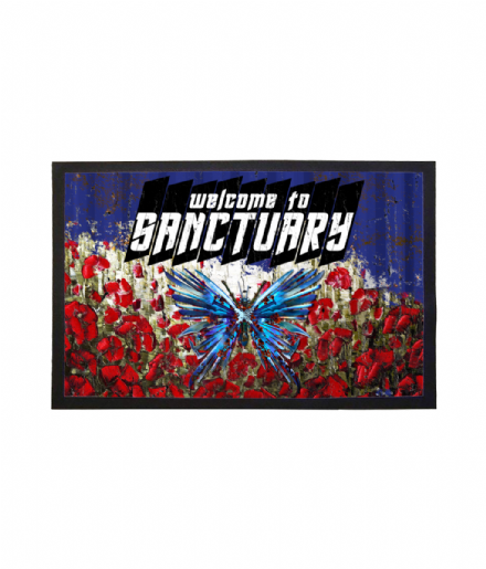 Welcome To Sanctuary - Into The Badlands Widow Butterflies Doormat Welcome Mat